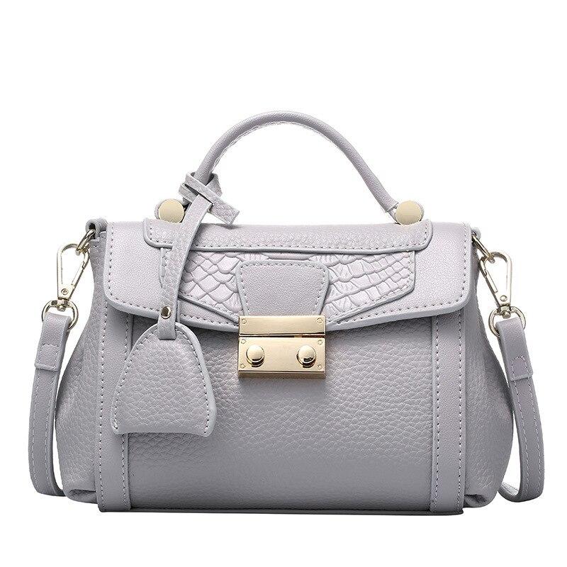 mini women messenger bag guranteed 100% genuine leather women handbag tote lock cross body shoulder bag