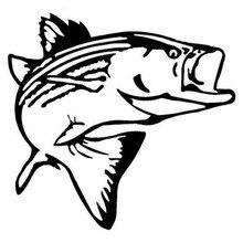 14,2*13,6 см Стикеры для автомобиля с изображением рыбы, морской воды, озера, баса, забавные Стикеры