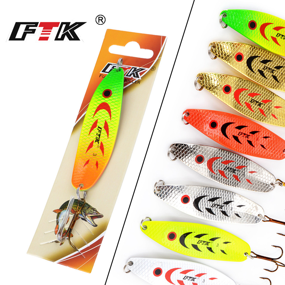 FTK 20g/30g Long Cast Fishing Carp lures Mepps Jig Baits Tackle Wobblers Isca Artificial Baite Spinner Spoon mepps Fishing lures 30pcs set fishing lure kit hard spoon metal frog minnow jig head fishing artificial baits tackle accessories