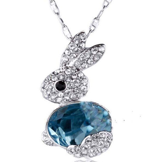 12pcslot wholesale free shipping stock rabbit necklace choker 12pcslot wholesale free shipping stock rabbit necklace choker collar necklaces full crystal animal aloadofball Image collections