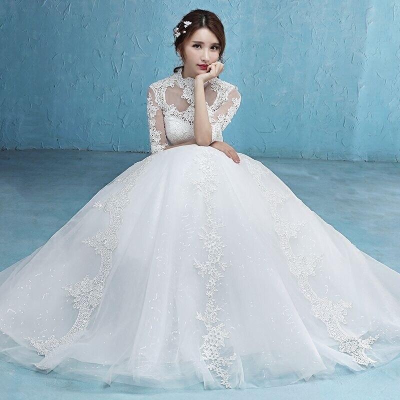 De Vestido As Picture Noiva kleider Spitze Halbe Hochzeitskleid Wed90425 hochzeits Hülsen Popodion Tq0wB0