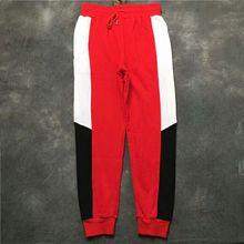 22a3265062aa98 2019 NEW Justin Bieber Black white red Splice Side Stripes men Jogging pants  Sweatpants hip hop