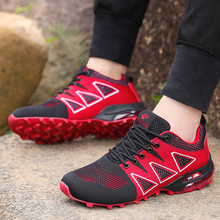 Brand 2018 Men Breathable Mesh Shoes Air Mesh Cushion Casual Shoes Cotton Fabric Inside Hard-Wearing Outsole Leisure Shoes Male