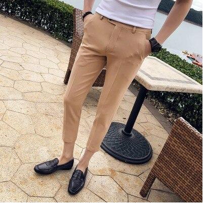 2018 sommer männer Koreanische version der trend der freizeit neun anzug hosen Slim wilden füße dünnen Britischen 9 punkte hosen