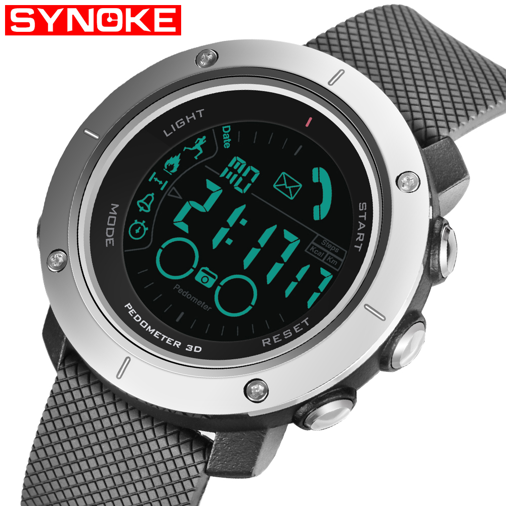 Fashion Smart Men Sports Watches Waterproof 50m Outdoor LED Digital Watch Swimming Diving Bluetooth Reloj Hombre Montre Homme ezon fashion mens women digital watches montre waterproof 30m digital dual time stopwatch outdoor sport watch reloj hombre l008