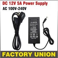 CCTV Adaptador 12 v 5A RoHS AC 100-240 v para DC Power Supply DC adaptador de CORRENTE ALTERNADA AU/EUA/REINO UNIDO/UE Plug Adapter para CCTV Sistema de Câmera DVR