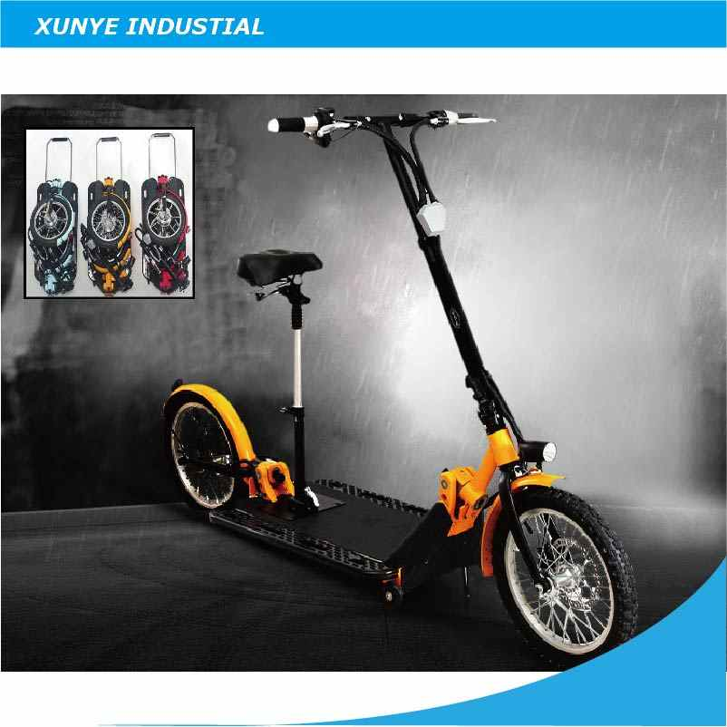 "O001 New Design Adult Folding Electric Foldable Scootter, 16"" Lithium Battery Two Wheels Foldable, Portable Electric  Scooter"