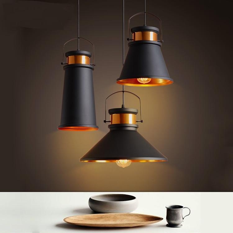 A1 Vintage Black Industrial restaurant pendant light  creative personality simple art bar single head Iron lamp