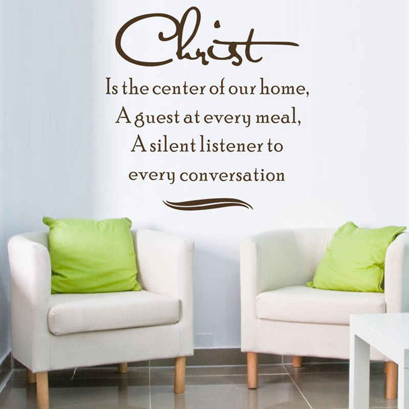 Amazon hot Christ это Центр Нашего Дома виниловые наклейки на стену Переводные картинки