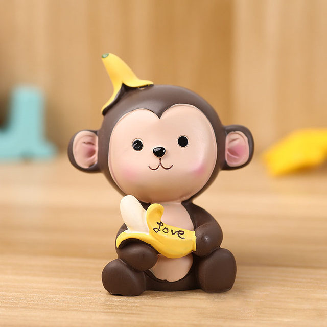 Online Shop 2pcs/set Lovely brown and yellow Cartoon Banana Monkey ...