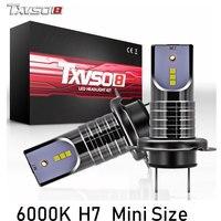 TXVSO8 2 шт. H7 светодиодный Автомобильный свет лампы CSP Chips-30000LM 6000 K bombilla светодиодный Противотуманные фары лампы 55 Вт Авто ампулы 12 V передняя фа...