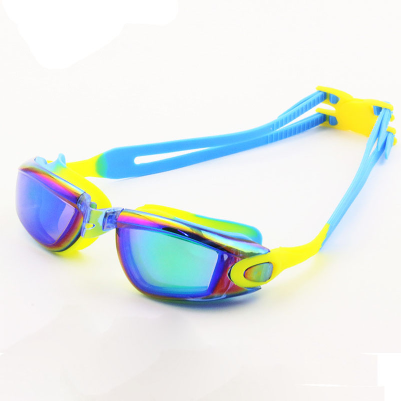 UV Protection Swim Waterproof Goggles Anti-fog Lights Lens Silicone Frame Child Swimming Goggles Pool Glasses for kids