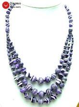 Женское Ожерелье из натурального агата qingmos колье 3 струн