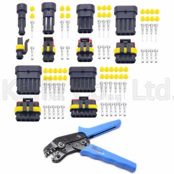 30 Sets contain (5PCS 1+2+3+4+5+6P) AMP 1.5 Connectors male and female Plug, Automotive waterproof connectors +1 pcs SN-48B tool