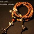 Tibetan Japa Mala Tibetan Rudraksha beads Mala 108 Prayer Beads Yoga Malas