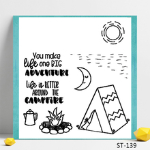 Camping in the wild Design Clear Stamp for Scrapbooking Rubber Seal Paper Craft Stamps Card Making