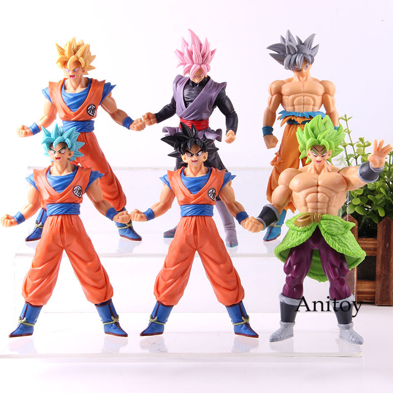 Dragon Ball Anime Figurine Son Goku Broli Son Gohan Saiyan Figure Dragon Ball Action Figure Collection Model Toy 6pcs/setDragon Ball Anime Figurine Son Goku Broli Son Gohan Saiyan Figure Dragon Ball Action Figure Collection Model Toy 6pcs/set