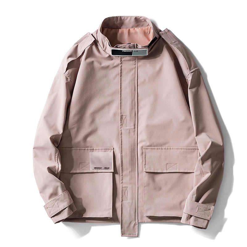 Chaqueta ASALI para hombre abrigo Casual primavera otoño nuevas chaquetas de ocio para hombre abrigo ajustado sólido chándal masculino ropa deportiva para hombre