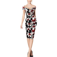 Women Dress Flower Print Fashion Summer Dresses Sexy DressDH
