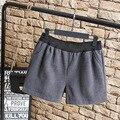Nuevo Estilo de Las Mujeres de Lana Shorts Casual Cintura Elástica Suelta Más Tamaño 3XL 4XL Otoño/Primavera Pantalones Cortos KK2202