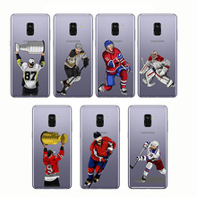 Sport Ice Hockey Sidney Crosby Cartoon Soft Silicon Phone Cases Cover Capinha Coque for Samsung A3 A5 2016 2017 A8 Plus 2018