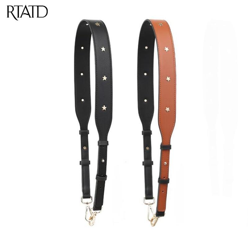 RTATD New Pu Leather Adjust Handbag Strap With Stars Trendy Bag Strap Chic Bag Necessary Women Shoulder Bags Belts