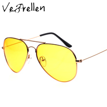 VeBrellen 2017 Fashion Alloy Men Brand Polarized Driving Sunglasses Glasses Day and Night Vision Goggles oculos VJ143