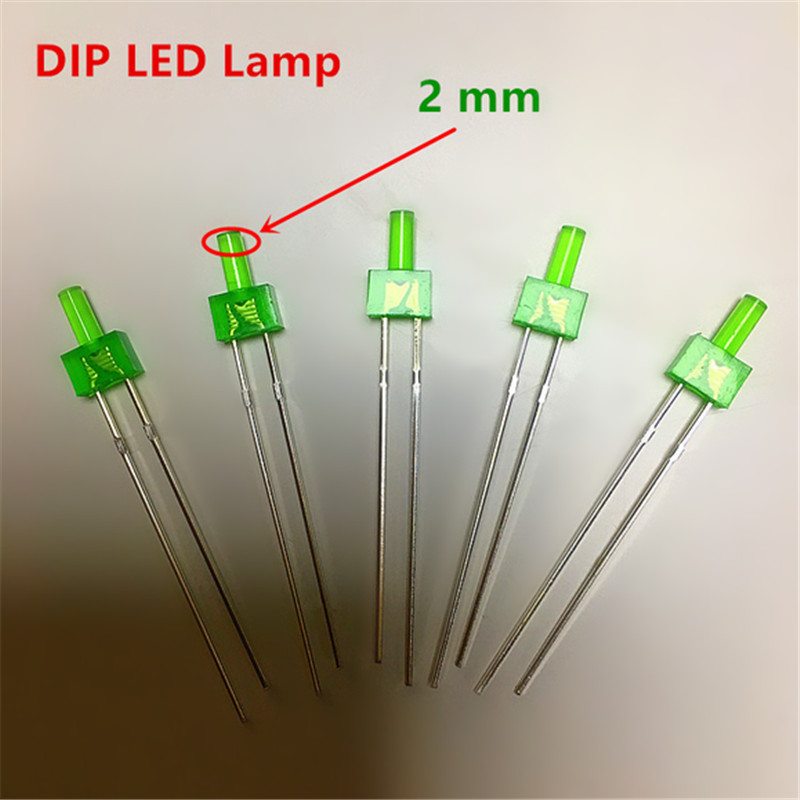 100pcs 2mm Warm White Flat Top Water Clear LED Diodes 12000MCD Leds Light Lamp