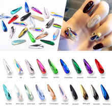 10pcs Crystal Shiny Nail Art Rhinestones AB Colorful Waterdrop 3D Flatback Diamonds Jewelry Charm Nail Art Decorations 19 Colors cheap Misscheering Flatback Nail Rhinestones Rhinestone Decoration 10Pcs Pack Approx 10*10mm Clear AB Red Pink Green Flame Blue Champagne Opal Gold Silver Black