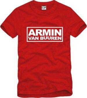 Alimoo MC DJ Armin Van Buuren hip hop Printed Mens Men T Shirt Tshirt Fashion 2016 New Short Sleeve O Neck Cotton T-shirt Tee