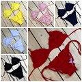 M & M Hot Sexy Bikini Set 2017 Verão Swimwear Mulheres Biquini Sexy praia Maiô Maiô Empurrar Para Cima do Biquíni Maillot De Bain Femme
