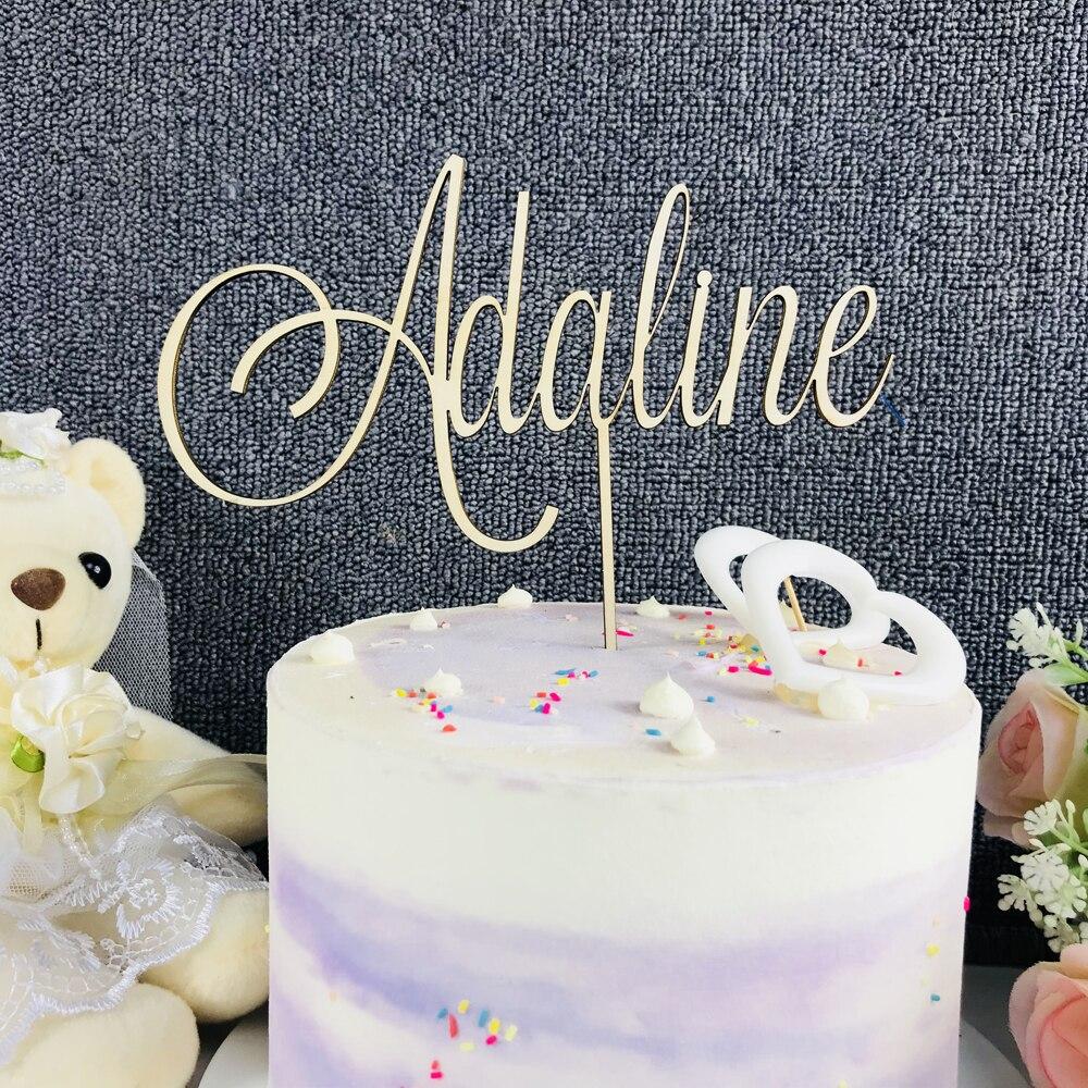 Custom Made Personalised Happy Birthday Name Acrylic Cake Topper Decoration