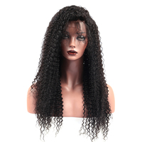 Kinky Curly Wig Glueless Lace Front Human Hair Wigs For Women Black 130% Lace Front Wig 13X4 Brazilian Lace Wig Remy Prosa