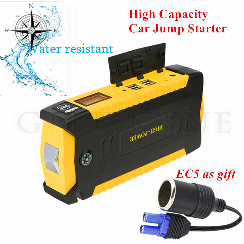 Super Capacity Starting Device 12V Petrol Diesel Car Jump Starter Mobile 4USB Power Bank 600A Car Charger For Car Battery Buster 2017 hot high capacity 12v petrol diesel car jump starter 600a peak car battery charger mini 4usb power bank sos light free ship