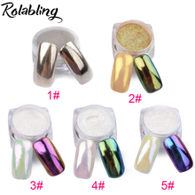 1g/pot Bling Mirror Nail Glitter Powder 11 Colors Nail Tip Decoration Nail Art Sequins Chrome Pigment Glitters Powder