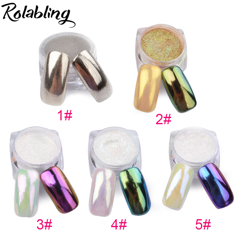 1g/pot Bling Mirror Nail Glitter Powder 11 Colors Nail Tip Decoration Nail Art Sequins Chrome Pigment Glitters Powder born pretty mirror nail glitter pigment powder 1g gold blue purple dust manicure nail art glitter chrome powder decorations