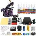 Solong Татуировки Новый Начинающий 1 Pro Machine Gun Татуировки Kit Питания Иглы Ручки совет 7 цветов набор чернил TK105-78