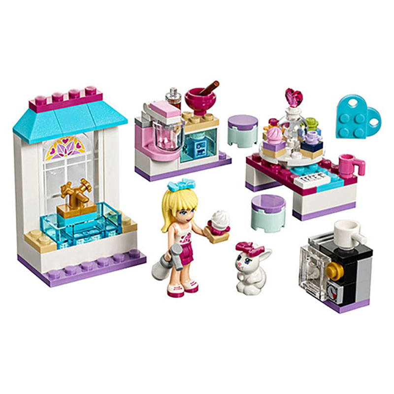 Friends Series Stephanie's Friendship Cakes Elsa Bela 10604 Model Building Block Kits DIY Bricks Compatible With Legoedly 41308 цена