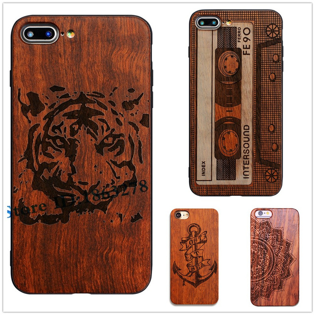 Exclusive Tiger Wood Phone Case For iphone 7 Plus Wooden Tape Anchor Design  Wood Mobile Phone Cover For Apple iphone7 7plus Case 61fd31562