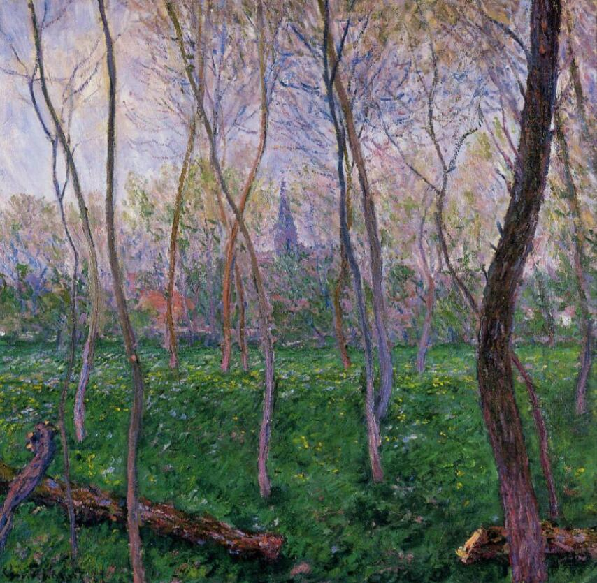 High quality Oil painting Canvas Reproductions Bennecourt (1887) By Claude Monet hand paintedHigh quality Oil painting Canvas Reproductions Bennecourt (1887) By Claude Monet hand painted