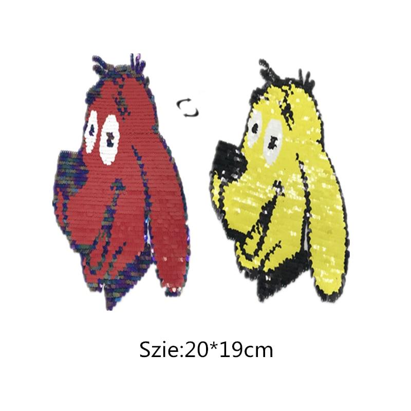 1pcs Dog Reversible Change color Sequins Patches for clothes DIY Patch Applique Bag Coat Sweater Crafts