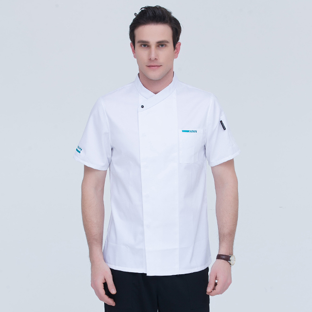 e2ff6fa260a Chef s clothing short-sleeved breathablecotton catering hotel Western chef  uniforms large size men and women chefs work uniforms