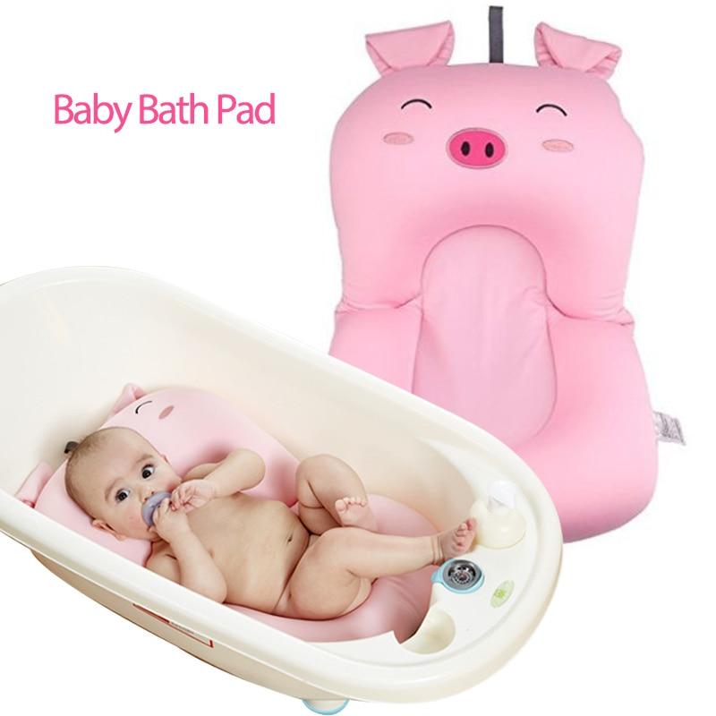 Pink Pig Design Baby Shower Bathtub Pad 0 6 M Newborn Infant Pillow ...