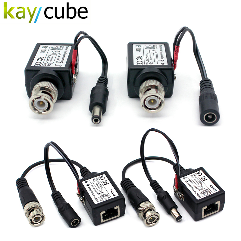 1Pair Kaycube Long Distance Transmission Video Power Balun  High Quality Bnc Connector To Rj45 Power Video Balun For Cctv Camera high quality 1 pair right