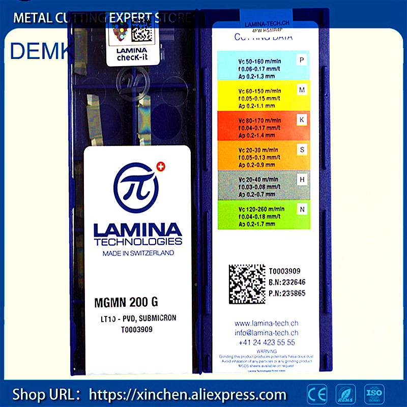 knife Free Shipping MGMN200 G LT10 LAMINA CNC lathe milling machine Carbide CNC blade 10PCS