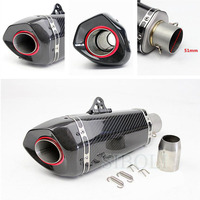 Universal 38 51mm Motorcycle Carbon Fiber Modified Exhaust Muffler Modified GY6 Scooter For Akrapovic Racing Exhaust