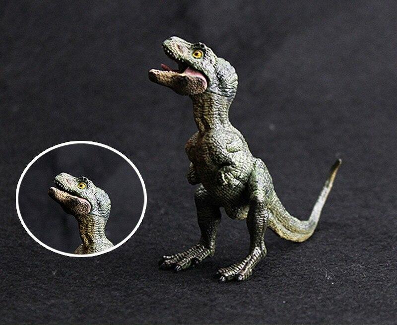 Mini Tyrannosaurus Rex Baby PVC Dinosaur Toys Plastic Action Figures Jurassic World Park Static Model Boys Gift for Kids