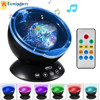 Remote Control Ocean Wave Projector 12 LED 7 Colors Night Light With Mini Music Player For