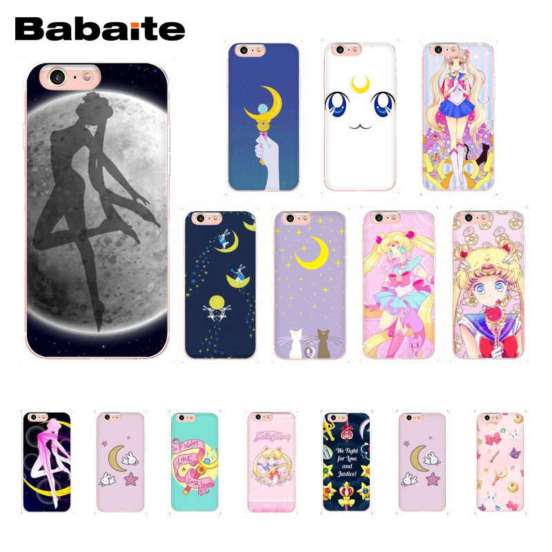 Babaite Gadis Sailor Moon Anime Phone Case untuk iPhone 11 Pro 11Pro Max 6S 6 Plus 7 7 Plus 8 8Plus X XS Max 5 5S XR