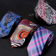 Hi-tie gravatas corbatas jacquard ties styles silk business christmas mens wedding